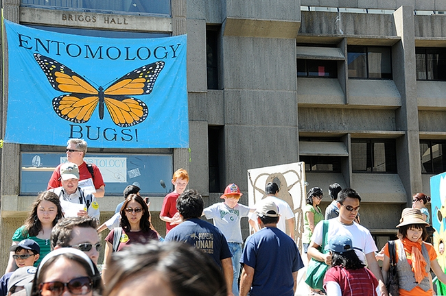 Briggs Hall is a popular place at the campuswide UC Davis Picnic Day. This year's Picnic Day is Saturday, April 16. (Photo by Kathy Keatley Garvey)