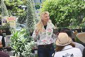 Award-winning garden designer, author and pollinator specialist Kate Frey addresses a recent crowd at Annie's Annuals and Perennials. Her topic: