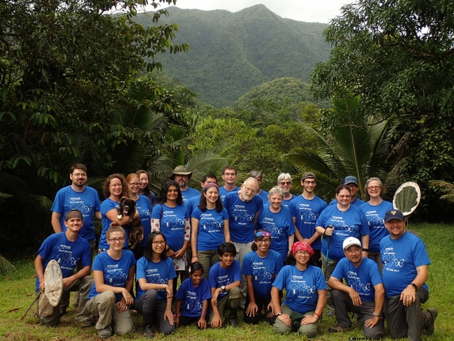 The collectors in Belize! All are wearing matching shirts; image taken in August 2017. (Photo courtesy of Fran Keller)