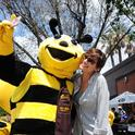 Miss Honey Bee, Benji Shade of Woodland Christian High School, takes a selfie with her teacher,  Jessica Hiatt at the inaugural California Honey Festival in downtown Woodland. This year's festival is Saturday, May 5.