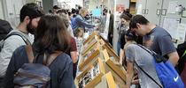 Thousands attended the UC Davis Biodiversity Museum Day; a video is now posted on YouTube. Here visitors check out the displays at the Bohart Museum of Entomology. The 2019 Biodiversity Museum Day is set Feb. 16. (Photo by Kathy Keatley Garvey) for Bug Squad Blog