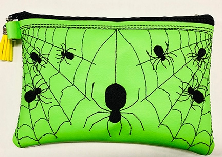 What's a pencil case without spiders? This item will be available soon on the Bohart Museum's gift shop. (Image by Fran Keller)