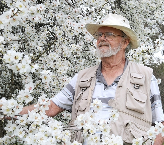 Robbin Thorp (1933-2019), distinguished emeritus professor of entomology at UC Davis, was a global authority on bumble bees. (Photo by Kathy Keatley Garvey)