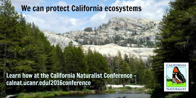 Have you checked out the program lately? We have added some amazing speakers! ‪#‎CalNat2016‬ http://calnat.ucanr.edu/2016conference/2016program/