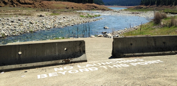 Dry dock at the Trinity Reservoir in northern California. photo by Faith Kearns