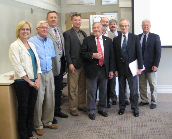 The California delegation along with Water for Food senior research scientist Marc Andreini and executive director Roberto Lenton.