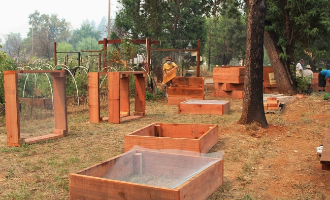 New beds begin the rebuilding process at Paradise Community Garden