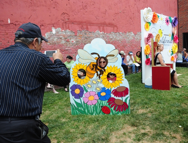 Colorful cutouts were a big hit for photographers at the 2017 California Honey Festival. (Photo by Kathy Keatley Garvey)