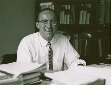 Plant biochemist Eric Conn in his Briggs Hall office.