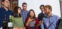 The iGEM olive-oil biosensor inventors are, from left, James Lucas, Sarah Ritz, Simon Staley, Yeonju Song, Brian Tamsut and Lucas Murray. Not pictured here was team member Aaron Cohen. (Karen Higgins/UC Davis) for Food Blog Blog