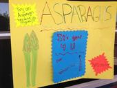 Asparagus poster made by the student leaders
