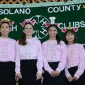The Four Little PIGS (Pork in Green Sauce) drew applause as the winners of the 2016 Solano County 4-H Chili Contest. From left are Spencer Merodio, Alexis Taliaferro, Natalie Frenkel and Kate Frenkel, all of the Suisun Valley 4-H Club. (Photo by Kathy Keatley Garvey)