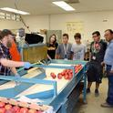 Students learn about post-harvest research at the Kearney Agricultural Research and Extension Center.