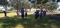 Nutrition Educators lead physical activity games at summer food sites for Food Blog Blog