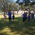 Nutrition Educators lead physical activity games at summer food sites
