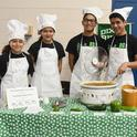 "This is the championship Dixon Ridge 4-H Club Chili Team: (from left)  siblings Moncerral ""Monce"" Torres Cisneros, Maritzia Partida Cisneros, Rudolfo ""Rudy"" Radillio Cisneros, and Miguel Partida Cisneros. They made ""4-H Green and White Chili."" (Photo: Kathy Keatley Garvey)"