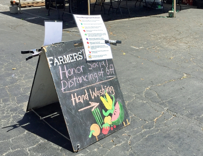 Farmers markets are testing new approaches to keep vendors and customers safe at farmers markets. (Photo: Pamela Kan-Rice)