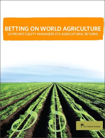 Betting on world ag-cover