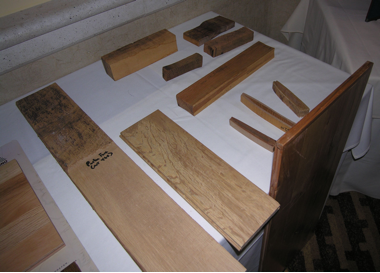 Examples of tanoak character wood and drying defects