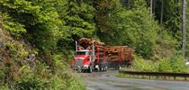 log truck for Forest Research and Outreach Blog