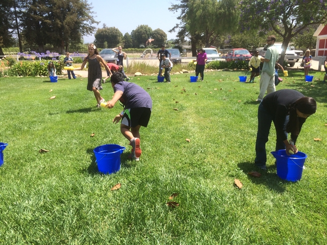 Activity illustrates how faulty pipes and transport systems waste precious water. Campers