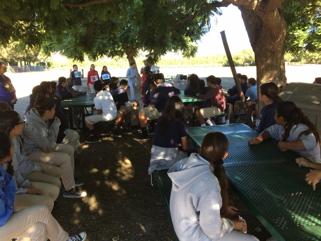 8th Graders learn about Ventura County Agriculture and play Name that Crop