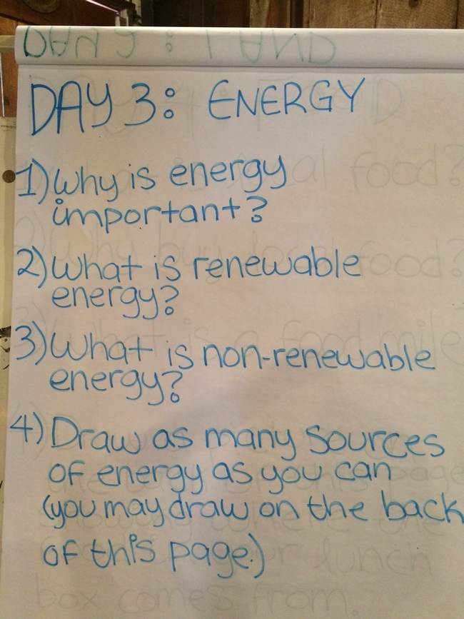 Energy journaling starts the day!