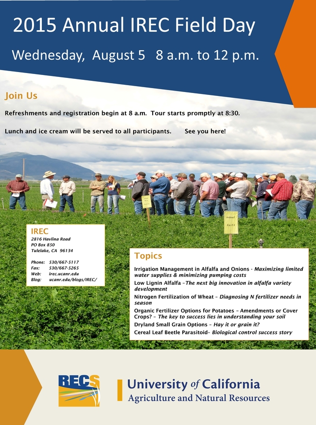 2015 IREC Field Day Flyer