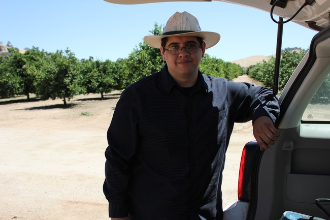 College of the Sequoias SURGE intern Hector Facundo begins project at LREC.