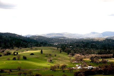 View of the Sierra Foothills from Robinson Ranch