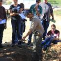 Students learn about the impact of soil on rangeland health and productivity