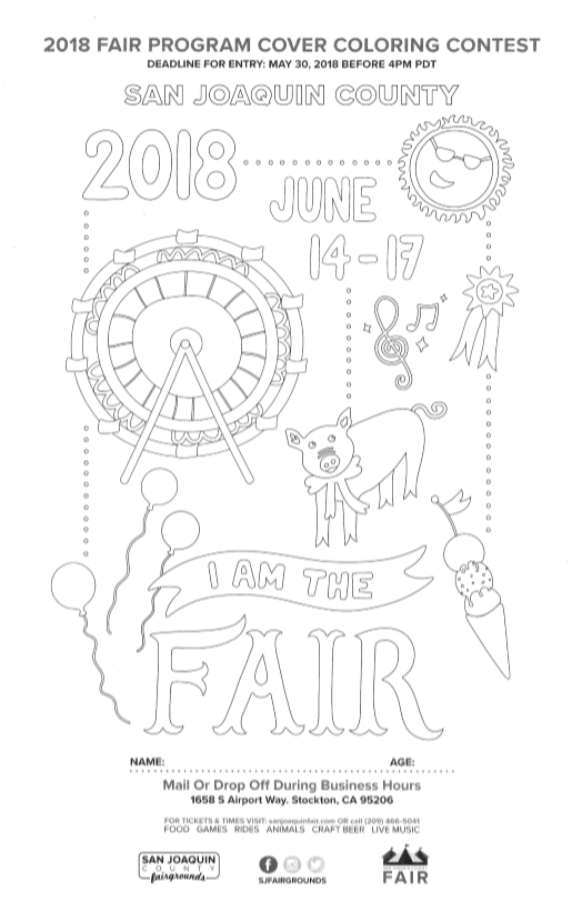 San Joaquin Fair coloring contest