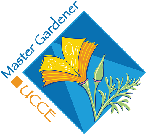 The logo for the UCCE Master Gardener Program blends our state flower, the California poppy (Eschscholzia californica) with the pages of a book, representing the program's focus on horticulture-related education.