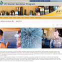 UC Master Gardener Program's new website features a clean mobile friendly design.