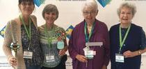 UC Master Gardeners taking photos with friends and fellow volunteers at the social media wall at the conference. Photo credit: Sheila Clyatt for UC Master Gardener Program Statewide Blog Blog
