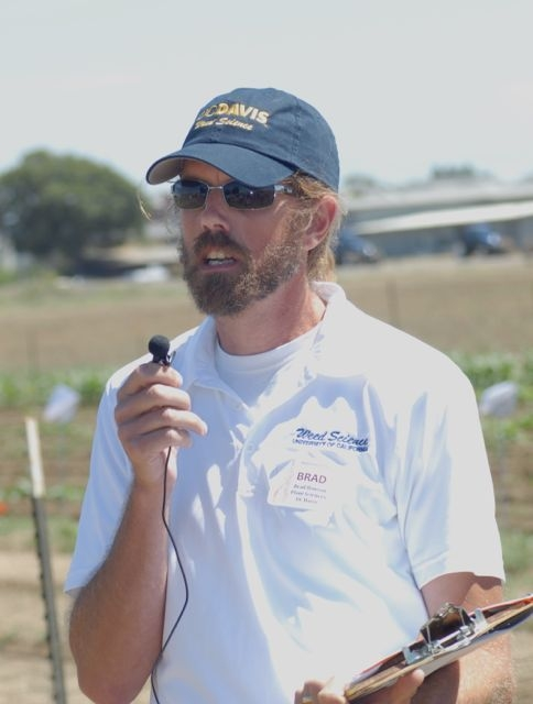 UC Cooperative Extension Weed Specialist Brad Hanson