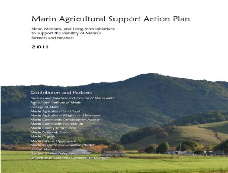 Marin Ag Support Action Plan cover