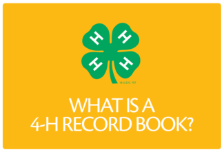 About 4-H Record Books Button
