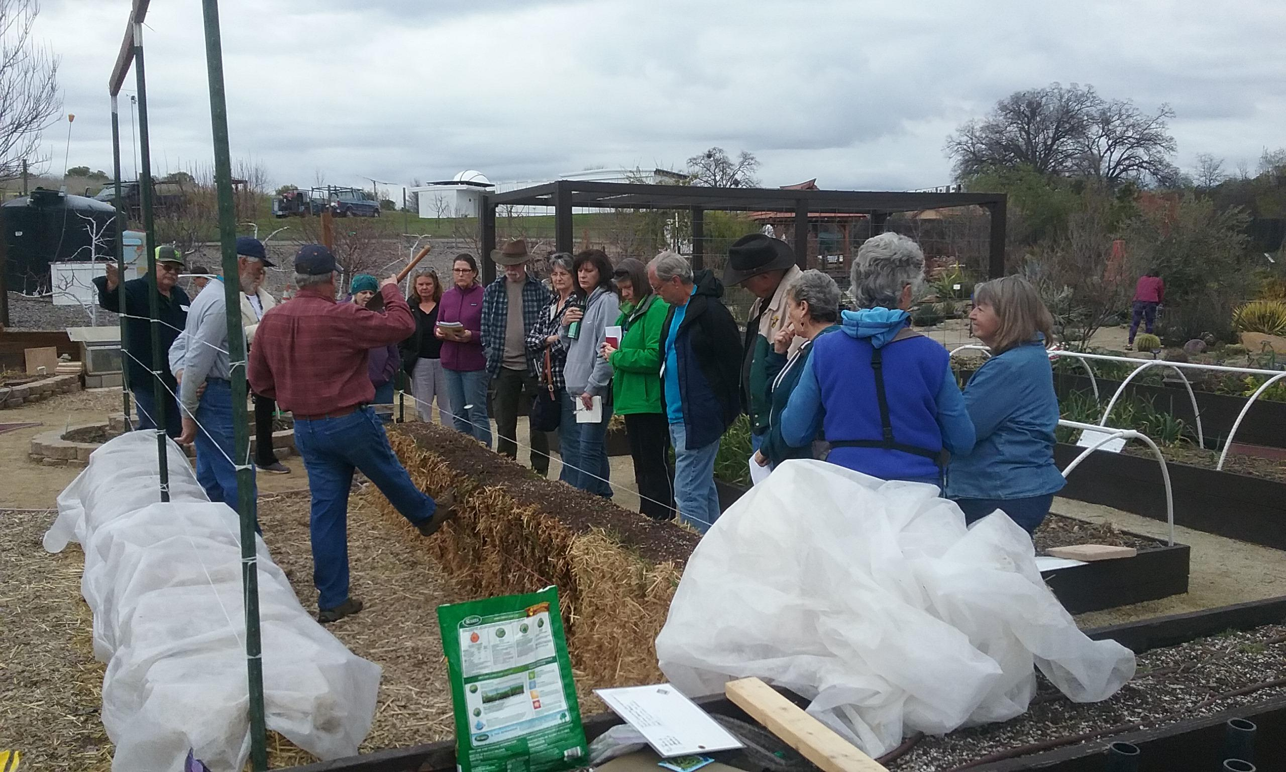 3-10-2018, 2nd Public class 'Straw Bale Gardening - Part 2' - planting