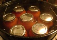 Jars in boiling water canner