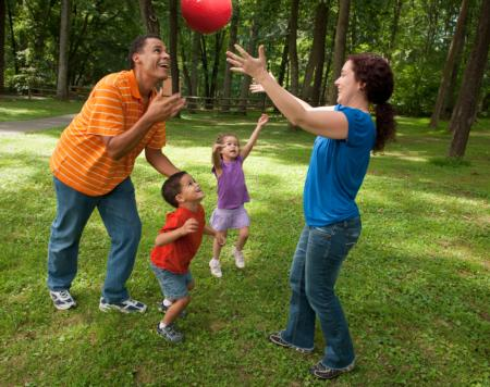 Playing ball is fun and helps develop motor skills (USDA photo gallery)