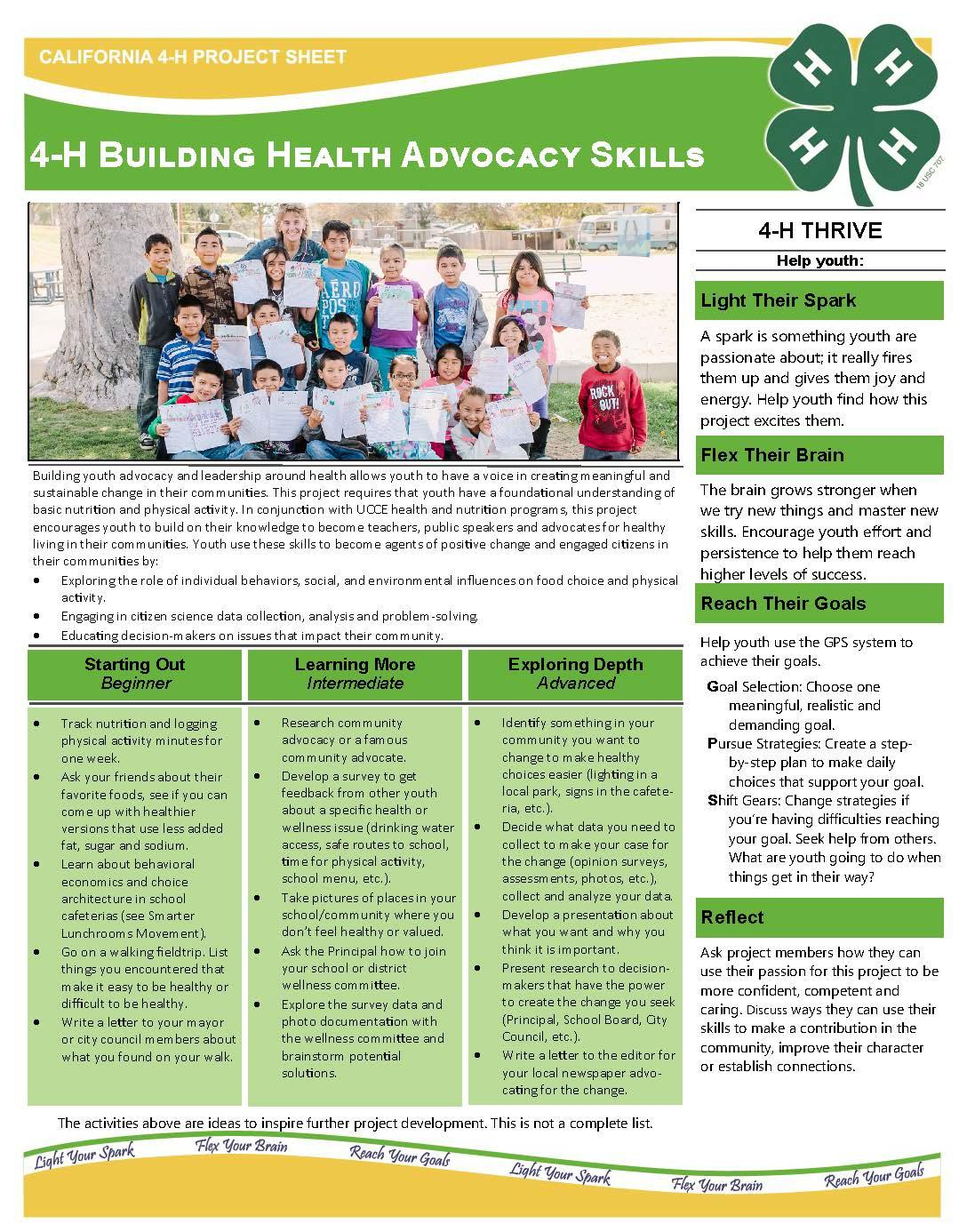 4-H Building Health Advocacy Skills