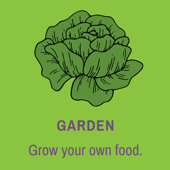 Button for more resources on gardening
