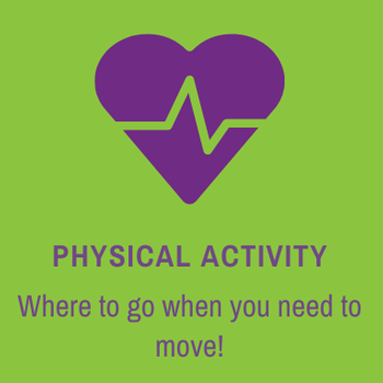 Button that links to more physical activity resources