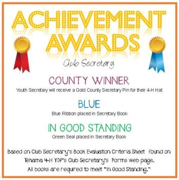 Club Secretary Awards Announcement