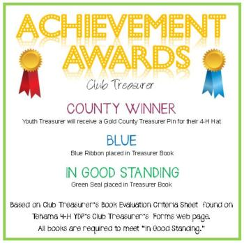 Club Treasurer Awards Announcement