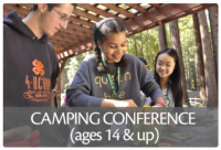 The 4-H Camping Conference is a biannual event. It provides 4-H teen leaders, volunteers and staff the opportunity to improve their camping programs