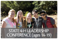 The annual 4-H State Leadership Conference brings together youth from across California for a four-day leadership training