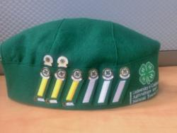 Right side of 4-H hat