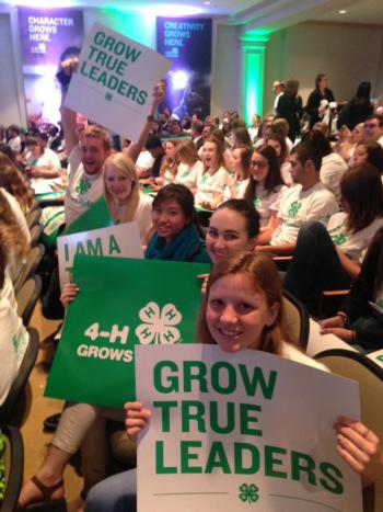 Youth rally during the 2016 National 4-H Conference